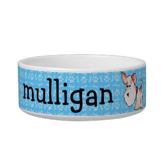 Fox Terrier Watercolor Cat Food Bowl