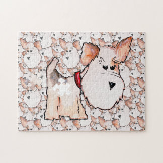 Fox Terrier Watercolor PIECE MISSING Design Puzzles