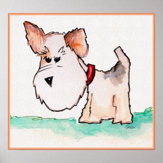 Fox Terrier Watercolor Print