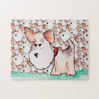 Fox Terrier Watercolor Puzzle