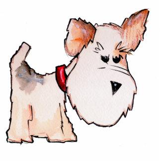 Fox Terrier Watercolor Standing Photo Sculpture