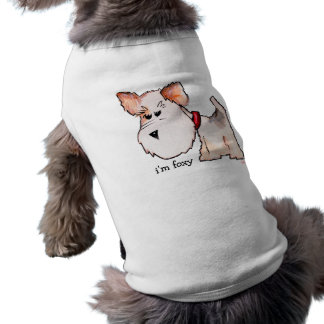 Fox Terrier Watercolor with Name Dog Clothes