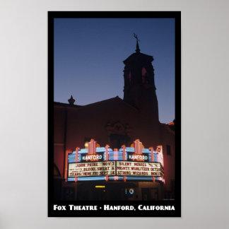 Fox Theatre, Hanford 11x17 Poster