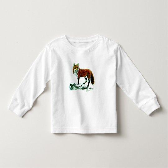 Fox Toddler Long Sleeve Toddler T-shirt