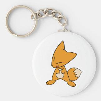 Fox tonto llavero redondo tipo pin