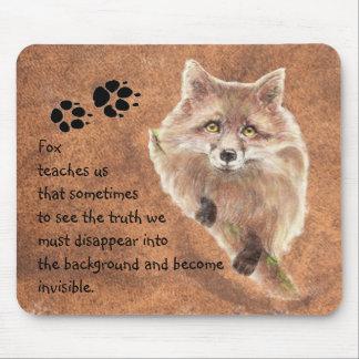 Fox, tótem animal, guía del alcohol, símbolo alfombrillas de ratones