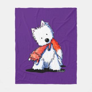 Fox Toy Westie Terrier Fleece Blanket