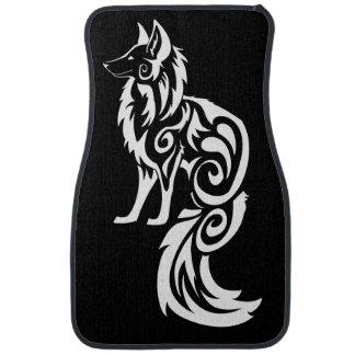 Fox tribal Kitsune Alfombrilla De Coche