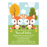 FOX TWINS IN DIAPERS BABY SHOWER 5X7 PAPER INVITATION CARD