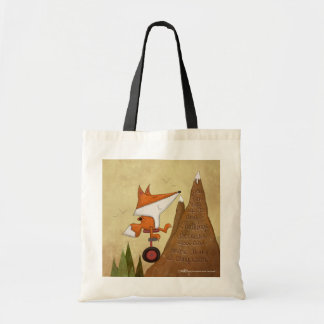 Fox Unicyclist-More Than a Conqueror Tote Bag
