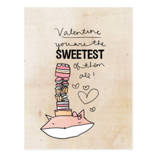 Fox Valentine | You Are The Sweetest Of Them All Postcard