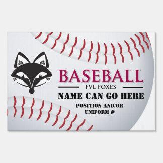 Fox Valley Lutheran High School Baseball Lawn Sign