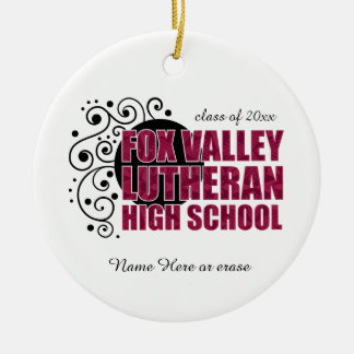 Fox Valley Lutheran High School Ceramic Ornament
