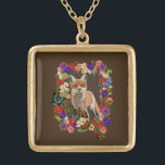 """Fox &amp; Victorian Flowers Necklace &amp; Pendant<br><div class=""""desc"""">More great items in my store!</div>"""