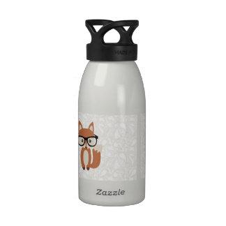 Fox w/Glasses del bebé del inconformista Botella De Beber