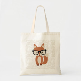 Fox w/Glasses del bebé del inconformista Bolsa De Mano