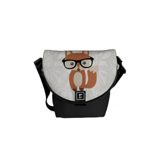 Fox w/Glasses del bebé del inconformista Bolsas De Mensajería