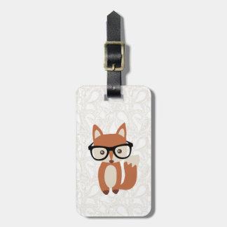 Fox w/Glasses del bebé del inconformista Etiquetas Maleta