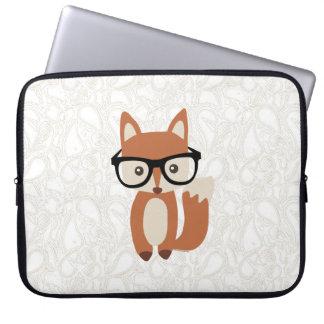 Fox w/Glasses del bebé del inconformista Funda Computadora
