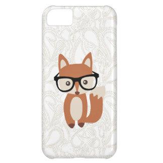 Fox w/Glasses del bebé del inconformista Funda Para iPhone 5C