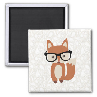 Fox w/Glasses del bebé del inconformista Imán