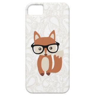 Fox w/Glasses del bebé del inconformista iPhone 5 Funda