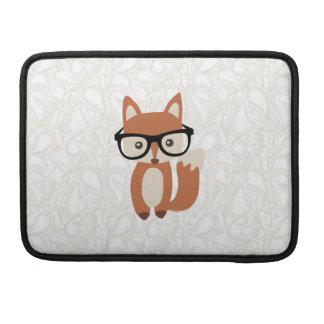 Fox w/Glasses del bebé del inconformista Funda Para Macbooks