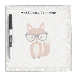 Fox w/Glasses del bebé del inconformista Pizarra Blanca