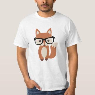 Fox w/Glasses del bebé del inconformista Playera