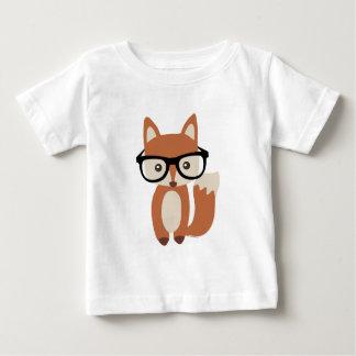 Fox w/Glasses del bebé del inconformista Playera Para Bebé