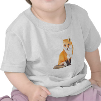 Fox Watercolor T-shirts