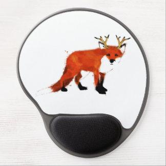 Fox watercolour gel mouse pad