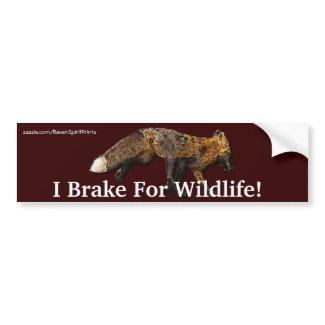 Fox Wildlife Protection Bumper Sticker zazzle_bumpersticker