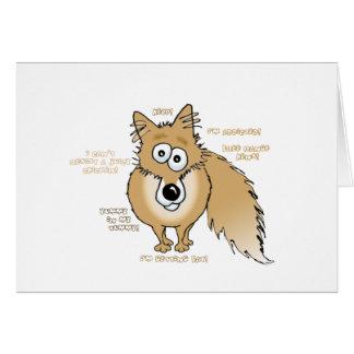 fox with chicken addiction! card