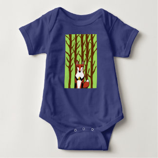 Fox with Forest Baby Body suit Infant Creeper