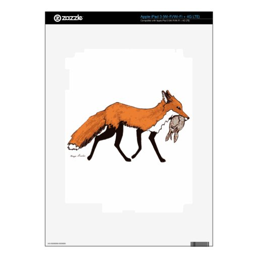 Fox with Ground Squirrels Decals For iPad 3