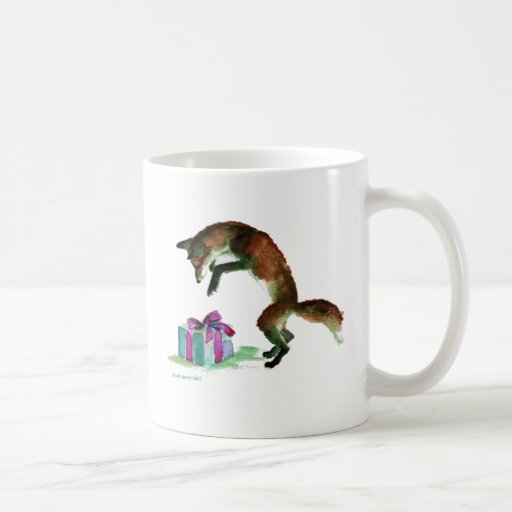 fox with present mugs