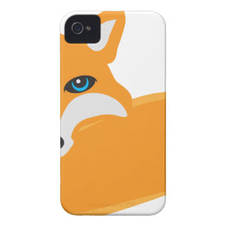 Fox with Tail Illustration iPhone 4 Case-Mate Case