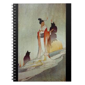 Fox Woman 1912 Spiral Notebook