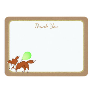 Fox Woodland Birch Tree Baby Shower Thank You Card