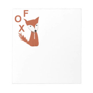 Fox Woodland Creature Notepad