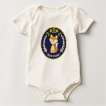 Fox Wreath Personalized Baby Boy Baby Bodysuit