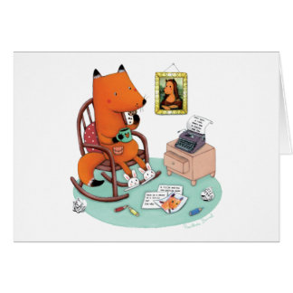 Fox Writes a Letter by Rosalinde Bonnet Greeting Card