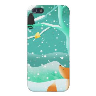 Fox y cuervo - caso del iphone iPhone 5 carcasas