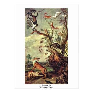 Fox y gato de Snyders Francisco Tarjetas Postales