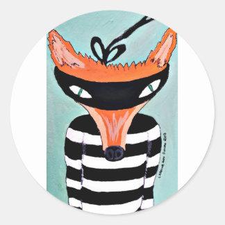Fox y ladrones por PaperTree Pegatina Redonda