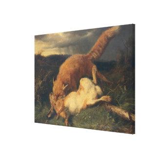Fox y liebres, 1866 lona estirada galerias