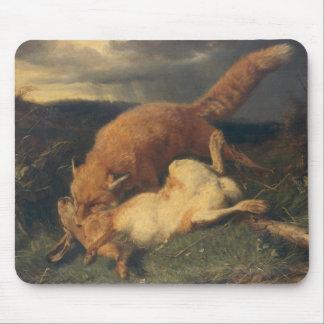 Fox y liebres, 1866 tapete de ratones