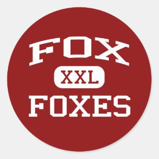 Fox - Zorros - High School secundaria del Fox - Fo Etiqueta