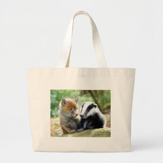 Foxcub & Badger Cute! Jumbo Tote Bag